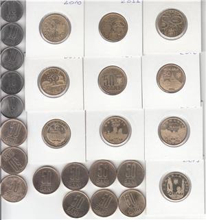 ROMANIA - COLECTIE 148 MONEDE DIFERITE DE LA  5 BANI 1867 - LA 50 BANI 2019  L9 - imagine 5