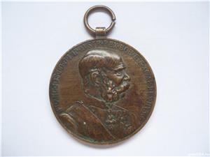MEDALIE FRANZ JOSEPH SIGNUM MEMORIAE 1848-1898 - imagine 1