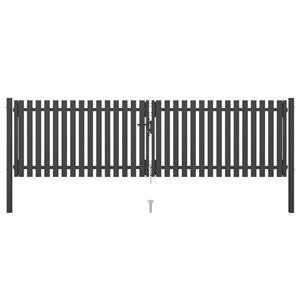 vidaXL Poartă de gard grădină, antracit, 4 x 1,25 m, oțel vidaXL(146333) - imagine 1