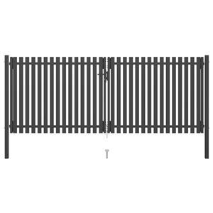 vidaXL Poartă de gard grădină, antracit, 4 x 1,75 m, oțel vidaXL(146335) - imagine 1
