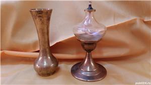 Spirtiera veche din bronz + cadou vaza veche din bronz - imagine 1