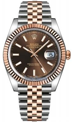 Rolex Datejust 41 Rose Gold/Steel Chocolate ! ! Calitate Premium ! - imagine 1