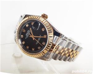 Rolex DateJust Bi-Metal Black Diamond Dial! Calitate Premium ! - imagine 4