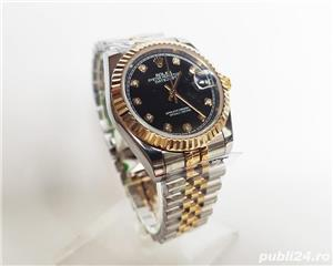 Rolex DateJust Bi-Metal Black Diamond Dial! Calitate Premium ! - imagine 7