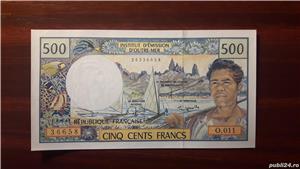 Colectionar, vand bancnote din Teritoriile Franceze din Pacific (Tahiti) - imagine 1