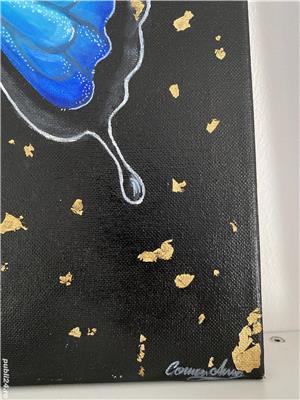 Tablou fluture albastru  - imagine 3