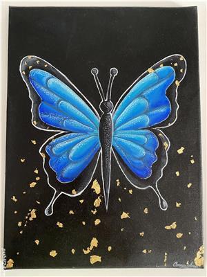 Tablou fluture albastru  - imagine 1