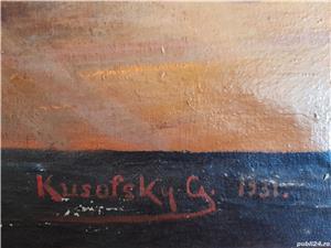 Tablou pictat pe pinza, semnat Kusofsky G. 1931 (1x0,7m) - imagine 2