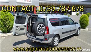 Suport exterior pentru roata de rezerva Dacia Logan MCV/ VAN/ DOKKER  - imagine 3