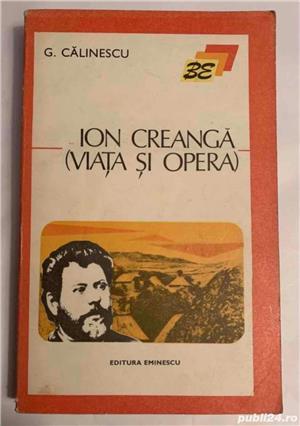 Ion Creanga (viata si opera), de G. Calinescu - imagine 1