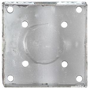 vidaXL Țăruși de sol, 2 buc., argintiu, 14x14x58 cm, oțel galvanizat vidaXL(145445) - imagine 5