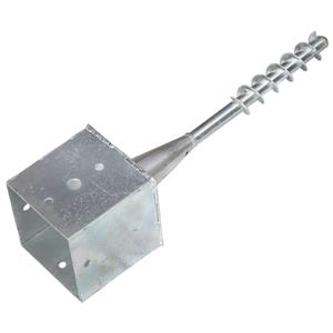 vidaXL Țăruși de sol, 2 buc., argintiu, 14x14x58 cm, oțel galvanizat vidaXL(145445) - imagine 3