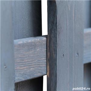 vidaXL Poartă de grădină, gri, 100 x 125 cm, lemn de pin tratat vidaXL(44935) - imagine 3