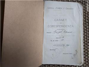 "Carnet de Corespondenta - Liceul ""CAROL I"" Craiova - imagine 1"