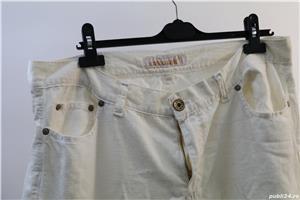 pantalon alb jeans de vara marca contobene ca nou - imagine 1