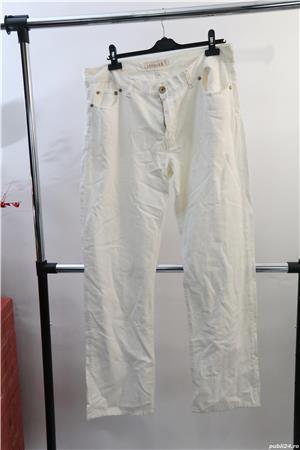 pantalon alb jeans de vara marca contobene ca nou - imagine 4