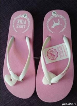 Slapi papuci Victoria Secret Pink, 36/37 - imagine 5