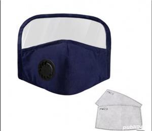 Masca bleumarin cu viziera pt copii și adolescenti - imagine 1