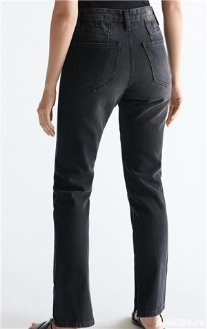 Pantaloni Blugi negri 42 - NOI - cu Etichetă - imagine 6