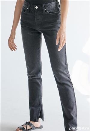 Pantaloni Blugi negri 42 - NOI - cu Etichetă - imagine 5
