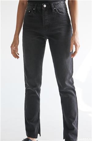 Pantaloni Blugi negri 42 - NOI - cu Etichetă - imagine 3
