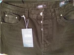 Pantaloni Blugi negri 42 - NOI - cu Etichetă - imagine 2