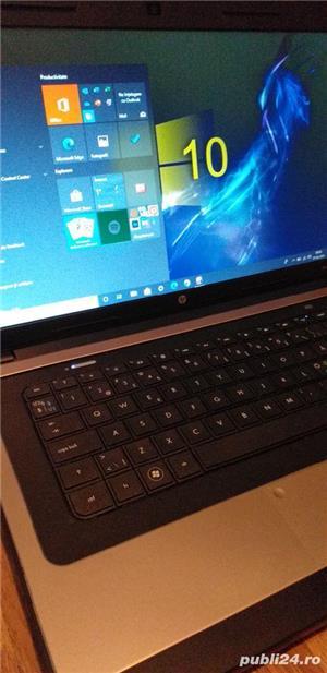Laptop HP display mare de 15,6 inch Led HD cu webcam incorporat perfect functional,Windows 10 Pro  - imagine 1