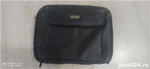 Geanta laptop impecabila piele neagra - imagine 3