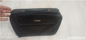 Geanta laptop impecabila piele neagra - imagine 2