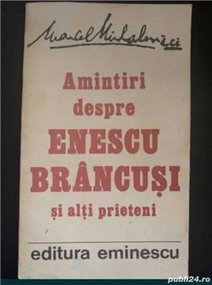 Amintiri despre Enescu, Brancusi si alti prieteni, autor Marcel Mihalovici - imagine 1