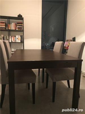 Masa dining, extensibila 6/8 persoane, solida, wenge - imagine 2