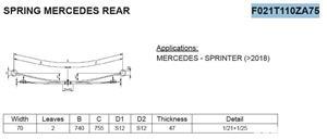 Arc cu 2 foi heavy duty Mercedes Sprinter w 907 2018 - prezent - imagine 1