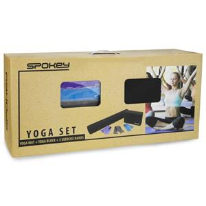 Set yoga fitness Mantra, saltea , benzi elastice, caramida spuma - imagine 4