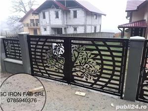 Porti si garduri, balustrade din tabla decupata - imagine 2