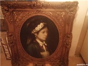 tablou portret  si icoana veche catolica pe lemn din zona ardealului - imagine 3