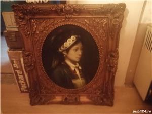 tablou portret  si icoana veche catolica pe lemn din zona ardealului - imagine 2