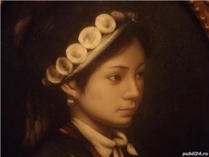 tablou portret  si icoana veche catolica pe lemn din zona ardealului - imagine 4