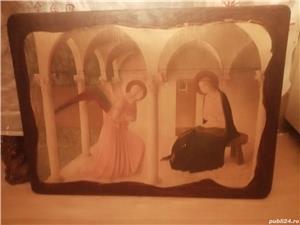 tablou portret  si icoana veche catolica pe lemn din zona ardealului - imagine 6