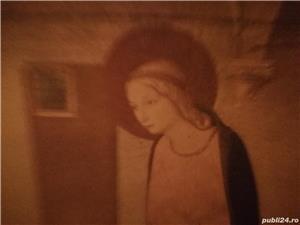 tablou portret  si icoana veche catolica pe lemn din zona ardealului - imagine 8