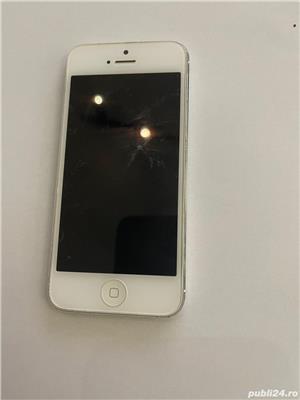 PENTRU PIESE !! PRET FIX: Iphone 5 white 16 GB, optic 10/10, pentru piese de schimb - imagine 2