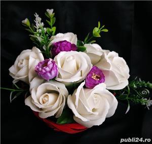 Aranjamente florale din trandafiri de săpun  - imagine 6