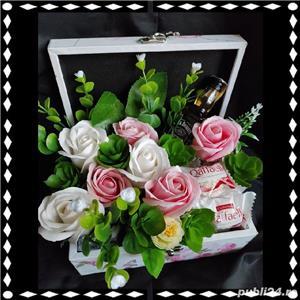 Aranjamente florale din trandafiri de săpun  - imagine 2