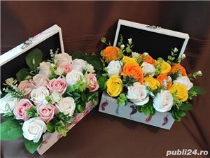 Aranjamente florale din trandafiri de săpun  - imagine 1