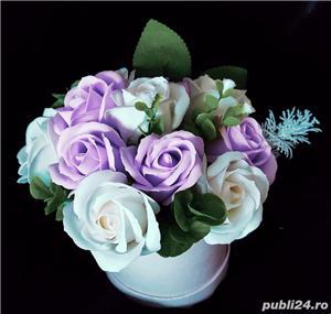 Aranjamente florale din trandafiri de săpun  - imagine 8