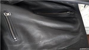 Geaca barbateasca din piele naturala - imagine 5