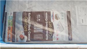 Patut pliant Lionelo Sven Plus, Albastru + Saltea Fibra Cocos MyKids Confort  - imagine 3