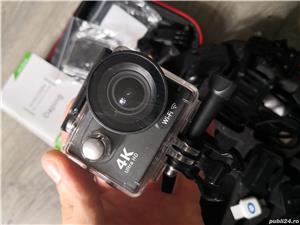 Camera video sport 4k Ultra HD Waterproof + 2 baterii rezerva + husa transport - Fara Card SD - imagine 3