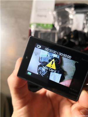 Camera video sport 4k Ultra HD Waterproof + 2 baterii rezerva + husa transport - Fara Card SD - imagine 5