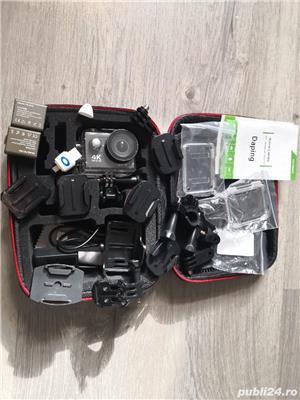 Camera video sport 4k Ultra HD Waterproof + 2 baterii rezerva + husa transport - Fara Card SD - imagine 1