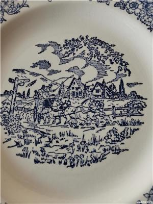 Farfurie decorativa vintage Anglia model albastru Delft - imagine 2